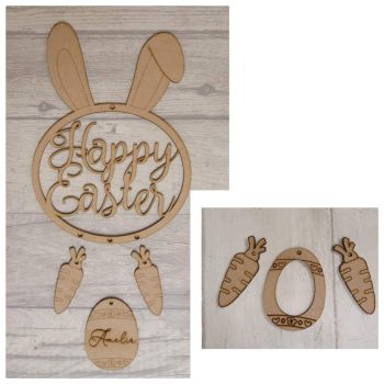 Bundle of 5 Easter Hanging Plaques.