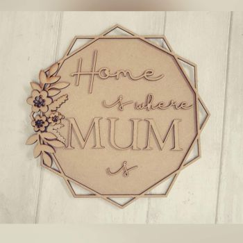 Bundle of 5 Home is where MUM is plaques.