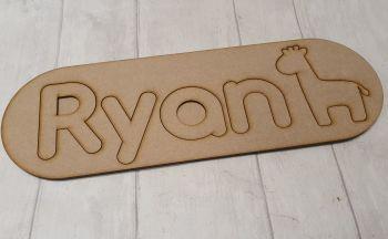 Personalised Name Jigsaw (FLAT) (50cm)