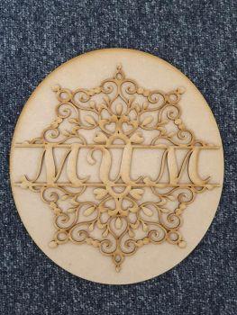 Mandala Name Plaque
