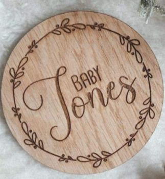 Baby Name Announcement Disc