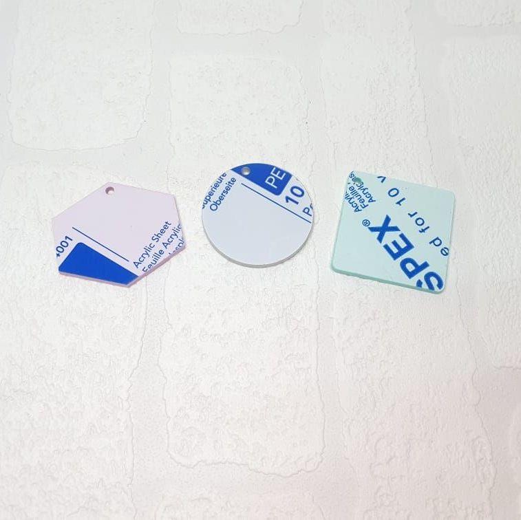 2mm acrylic standard 3cm shape (clear)