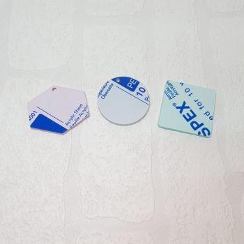 3mm acrylic standard 3cm shape (Standard Colours)
