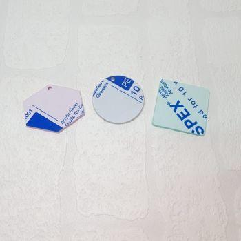 3mm acrylic standard 20cm shape (Standard Colours)