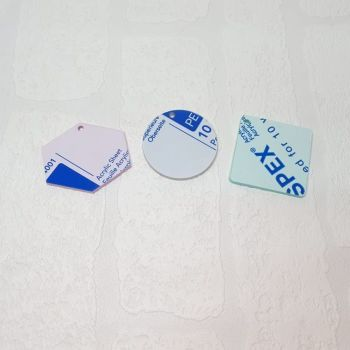 3mm acrylic standard 6cm shape (Standard Colours)