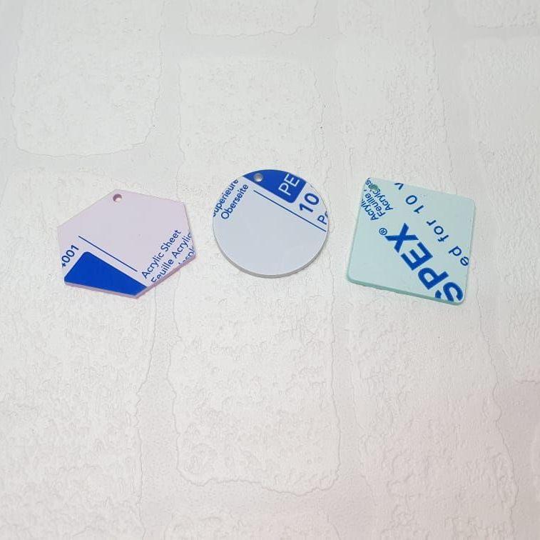 3mm acrylic standard 6cm shape (Special Colours)