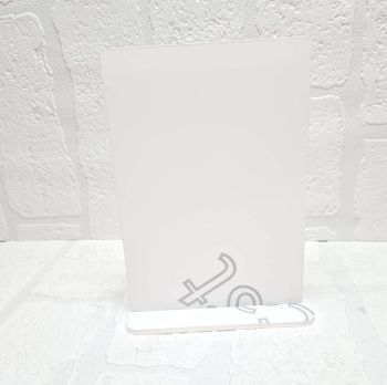 Clear Acrylic-  A4 Plaque with base