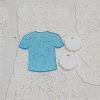 Tshirt keyring with 3 mini circles (clear)