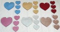 Heart keyring with 3 mini hearts (special colours)