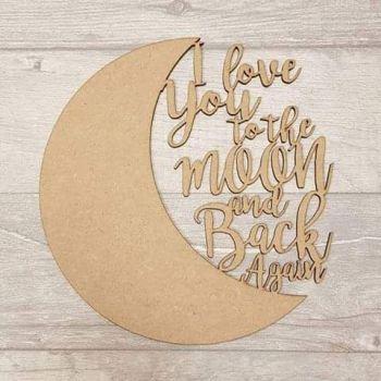 I love you moon plaque (20cm)