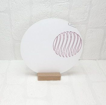 30cm Acrylic Circle and Pine base sign (standard colours)