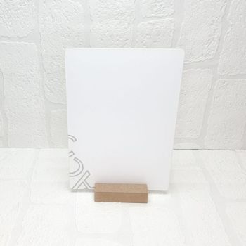 A5 Acrylic Rectangle and MDF base sign (Clear)