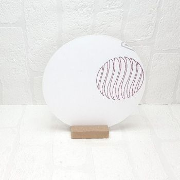 20cm  Acrylic Circle and MDF base sign (Clear)