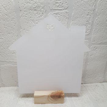 House Shape Acrylic in MDF Base