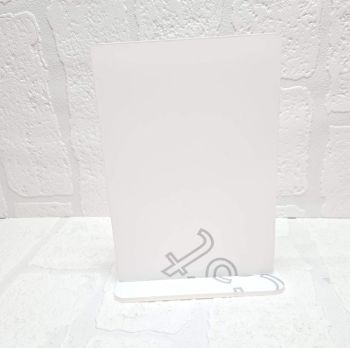 Mirror Colour Acrylic - A4 plaque with base