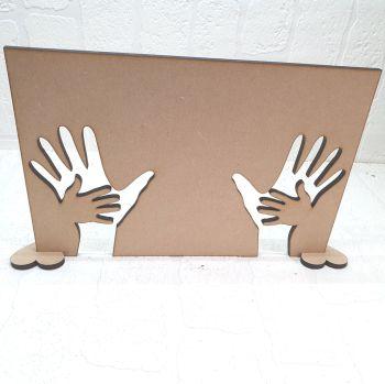 Oak Veneer Double Hand in hand plaque (blank)