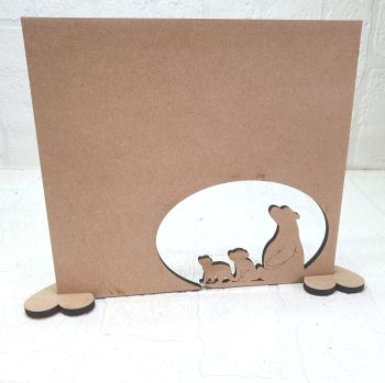MDF Daddy bear and Cubs Plaque
