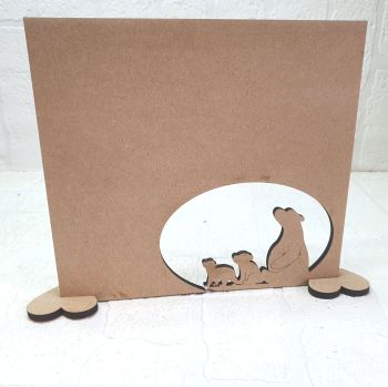 Oak Veneer Daddy bear and Cubs Plaque