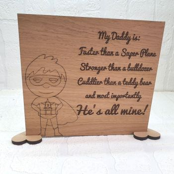 My Daddy Is Plaque