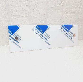 30x10cm Acrylic Plaque with standoffs
