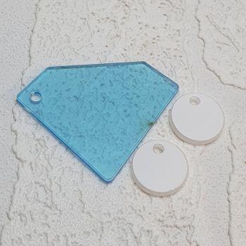 Diamond keyring with 3 mini circles (standard colours)
