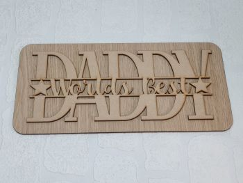 Worlds Best Daddy Plaque (pack of 10)