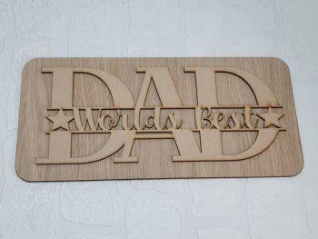 Worlds Best Dad Plaque (pack of 10)