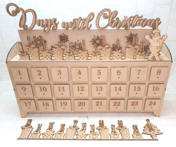 Bundle of 10 - 24 Drawer Countdown Advent Calender (Postage included)