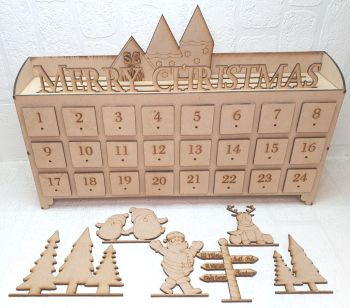 Bundle of 5 - 24 Drawer Merry Christmas Advent Calender (Postage included)