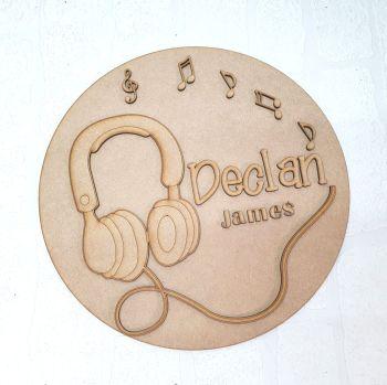 Headphone Name Plaque