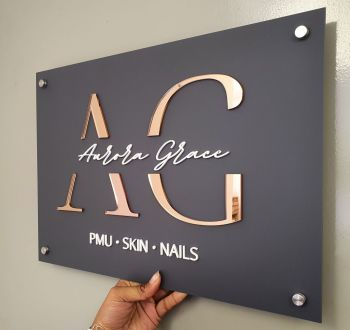Acrylic Business Logo Sign (30x20cm)