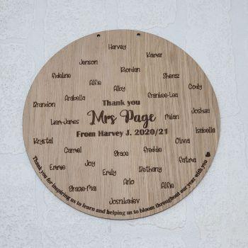 Class fingerprint plaque (20cm) (Postage included)