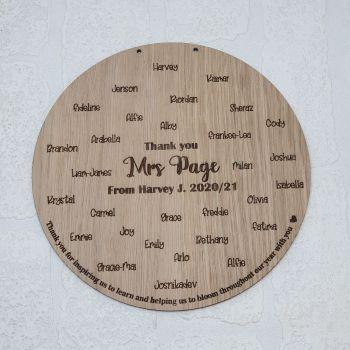 Class fingerprint plaque (30cm)