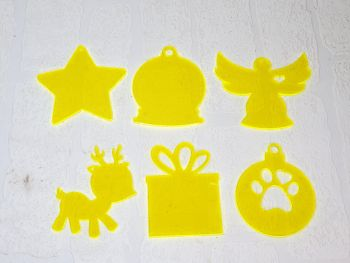 Christmas baubles 10cm (various shapes) Clear