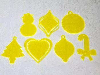 Christmas Baubles 10cm (various shapes) Standard Colours