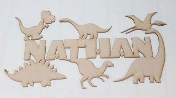 Dino Name Plaque