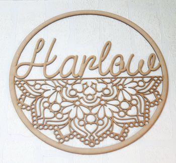50cm Mandala name hoop (post included item)