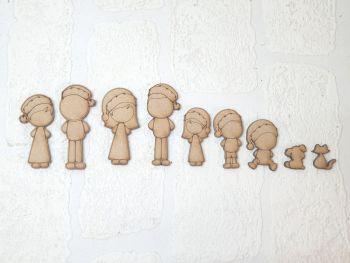 Family Figure Packs  (Christmas Edition)