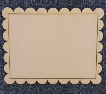 A3 Plaque with Border (plain or scalloped)