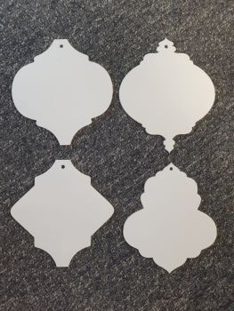 Arabesque bauble selection 12cm shape (Special Colours)