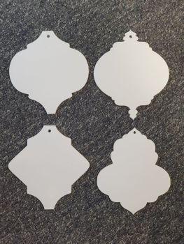 Arabesque Bauble selection 12cm shape (standard colours)