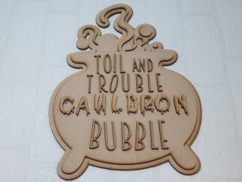 Cauldron bubble plaque