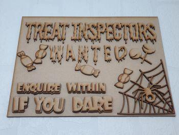 Treat inspector plaque