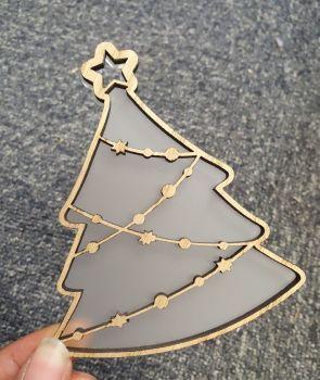 Veneer cutout christmas tree