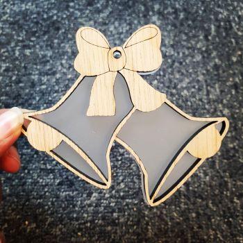Veneer cutout christmas bells