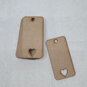 Heart Cutout Tag (Packs of 5/10/20/50)