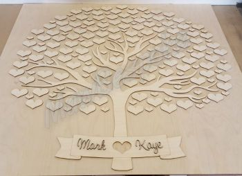 Heart Tree Guestbook (80) (postage included)