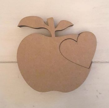 Freestanding Apple with Heart