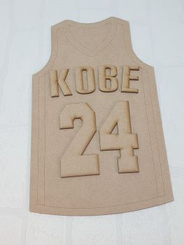 Basketball jersey plaque