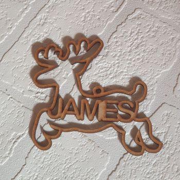 Cutout Name Reindeer Bauble